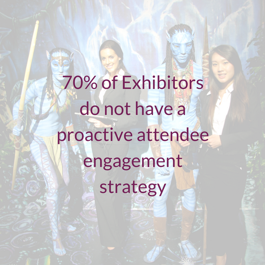 70% of exhibitors do not have a proactive attendee engagement strategy
